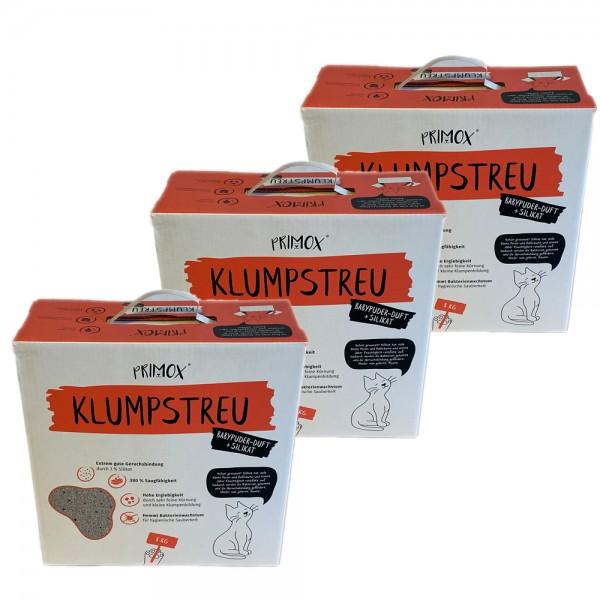 3 x KLUMPSTREU Babypuder-Duft + Silikat